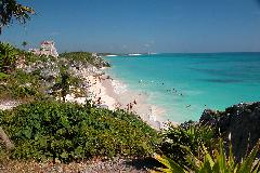 Tulum Ruins Mexico - Sandy Beach