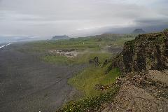 Black Sand Beach and Volcano as viewed west from Dyrhólaey
