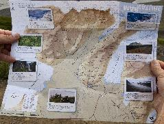 Skaftafell Trail Map - photo of paper handout