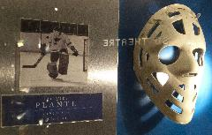Jacques Plante - Hall of Fame Mask Photo - 1969-70 Mask