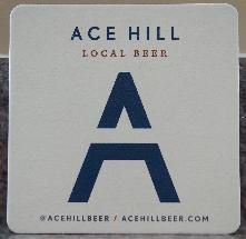 Ace Hill Beer Coaster - White - 2017