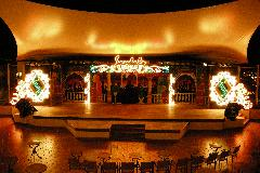 Entertainment stage at Sandals Royal Hicacos
