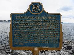 Steamboating on Lake Simcoe Plaque - Barrie