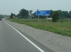 Severn Township - Population Sign - Highway 11 S - 2013