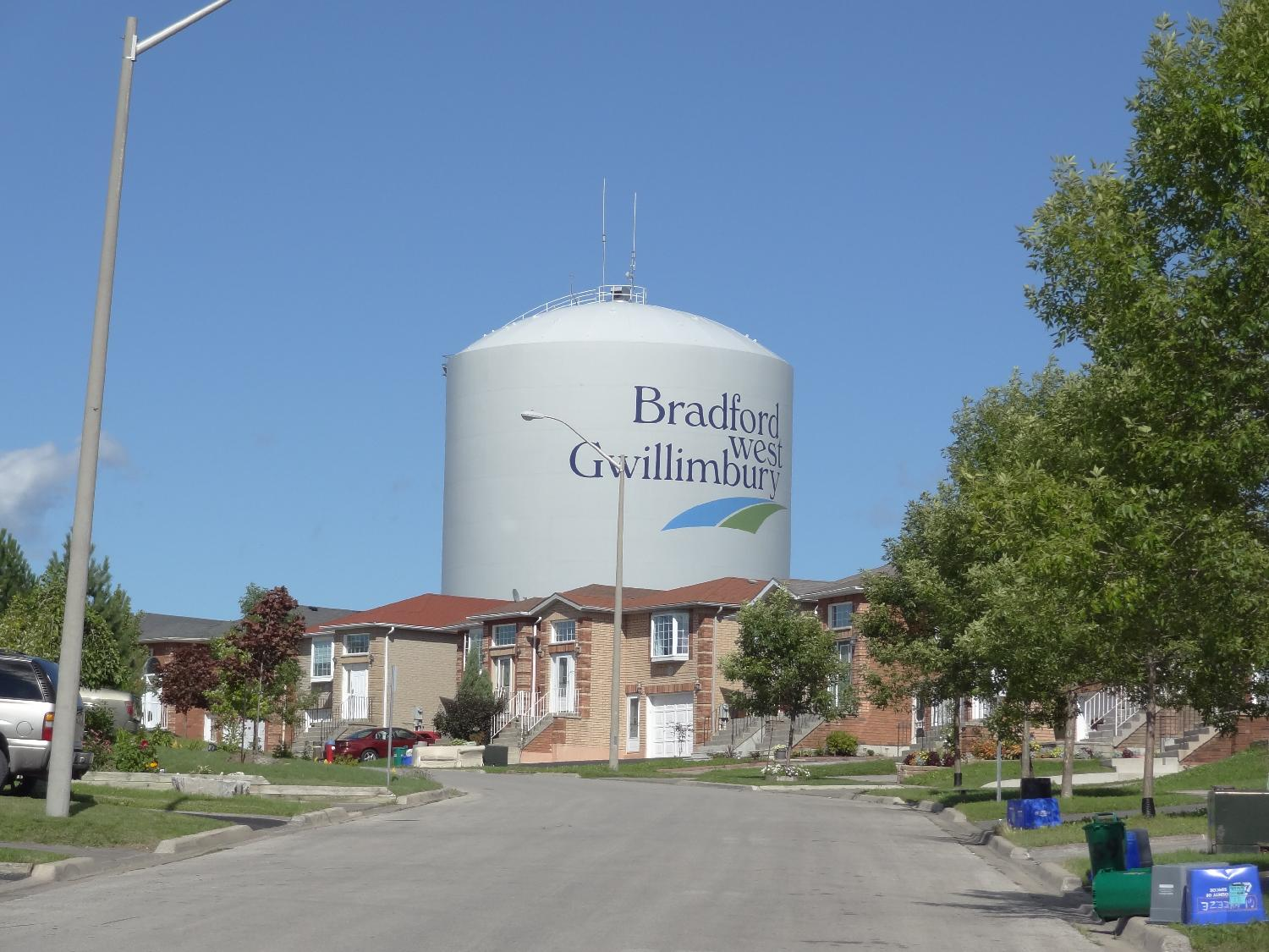 Water Tower in Bradford West Gwillimbury near 10 Sideroad and Holland Street.