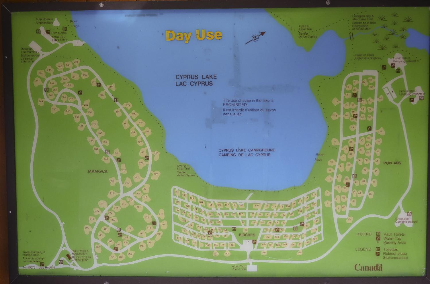 Map of cyprus lake campground my world of photos map of cyprus lake campground gumiabroncs Choice Image