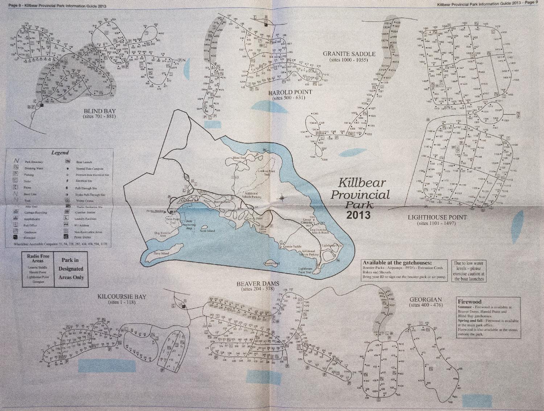Killbear Provincial Park Site Map Photo
