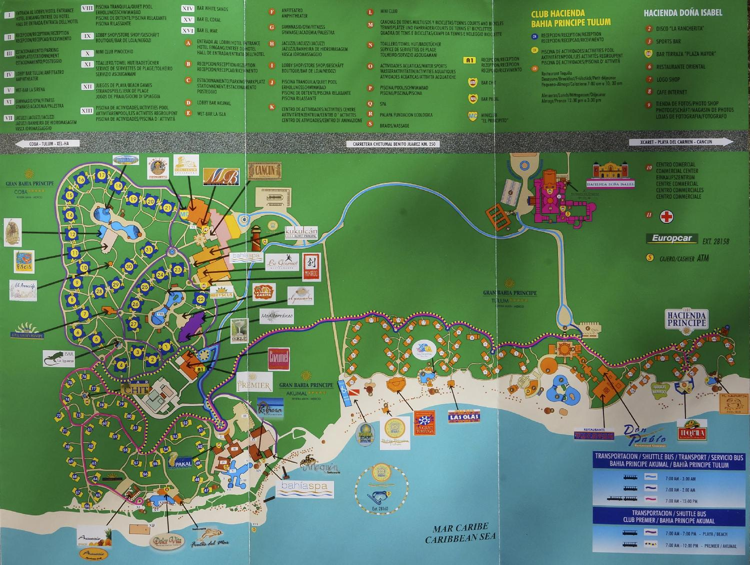 Bahia Principe Mayan Riviera Mexico Site Map - Photo