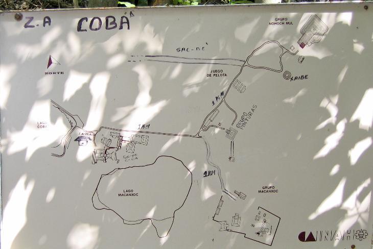 Site Map Mayan Ruins of