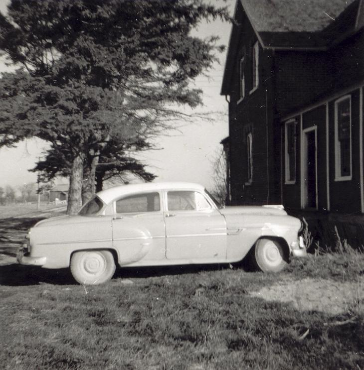 A 1953 Pontiac Chieftan, photo was taken in 1960.  This was my parents first car.