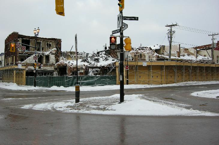 Photos taken a couple of months after the fire. The fire occured December 6th and 7th of 2007.  Barre, Ontario, Canada