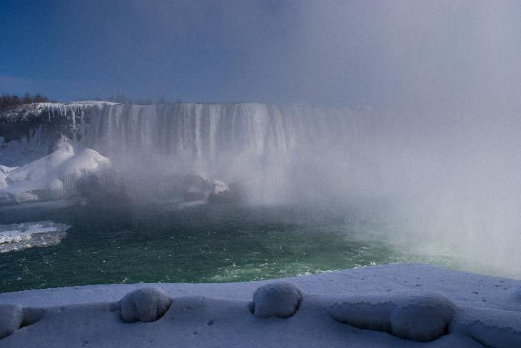 Photo of Niagara Falls taken in February.