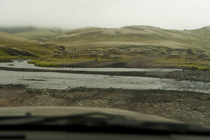 Photo of watercrossing along F208 Iceland north towards Landmannalaugar. This river is located near Ofaerufoss in Eldgjá.
