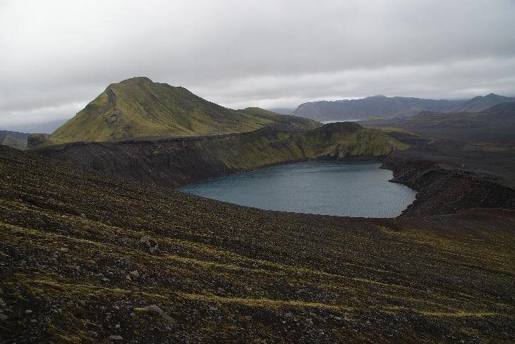 Also spelled Ljótipollur (Ugly pool).  Is an explosion crater located in the Landmannalaugar region of south Iceland.