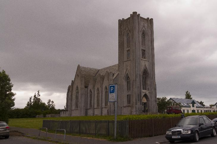 Landakotskirkja (The Landakot Church) in Reykjavik Iceland. Often referred to as Kristskirkja (Christ's Church), is the Catholic cathedral of Iceland