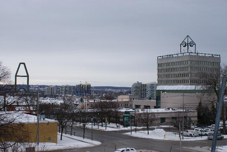 Barrie City Hall and beach front condos can be seen from this view.