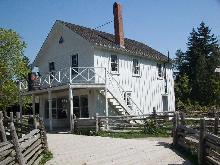 Tinsmith Shop and Masonic Lodge at Black Creek Pioneer Village near Toronto Ontario.