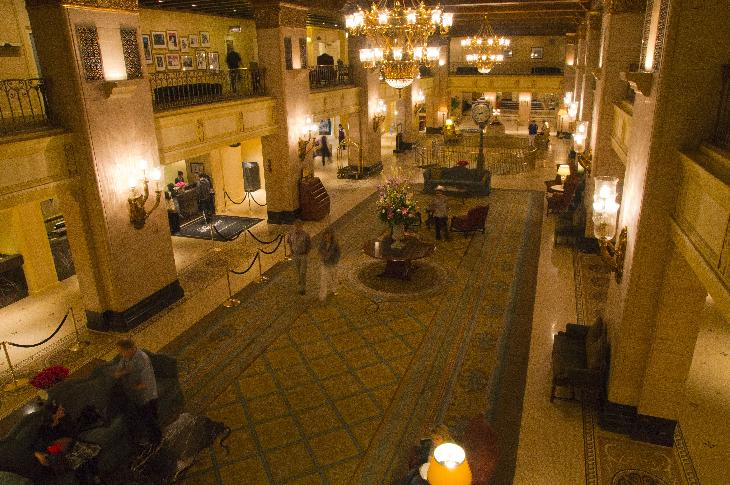 Photo of Fairmont Royal York Lobby and Mezzanine taken from Mezzanine Floor.