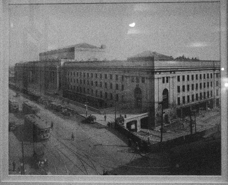 1920's Photo of Toronto Union Station.  Located at Fairmont Royal York Hotel in Toronto on Front Street.