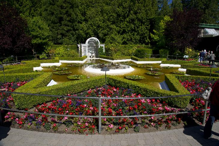 Photo of the Star Pond at Butchart Gardens.  Located in Brentwood Bay British Columbia, near Victoria.
