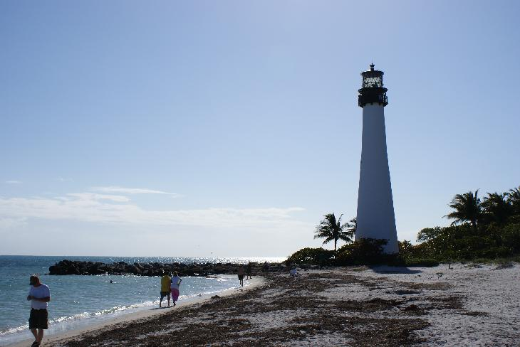 Photo of the Cape Florida Lighthouse.  Located in Bill Baggs State Park on Key Biscayne Island.