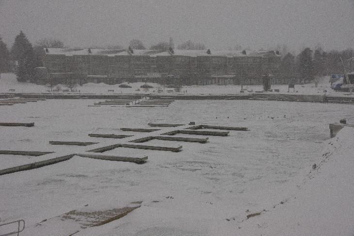 A view of Royal Harbour Resort in Thornbury.  Taken in January on a snowy morning.