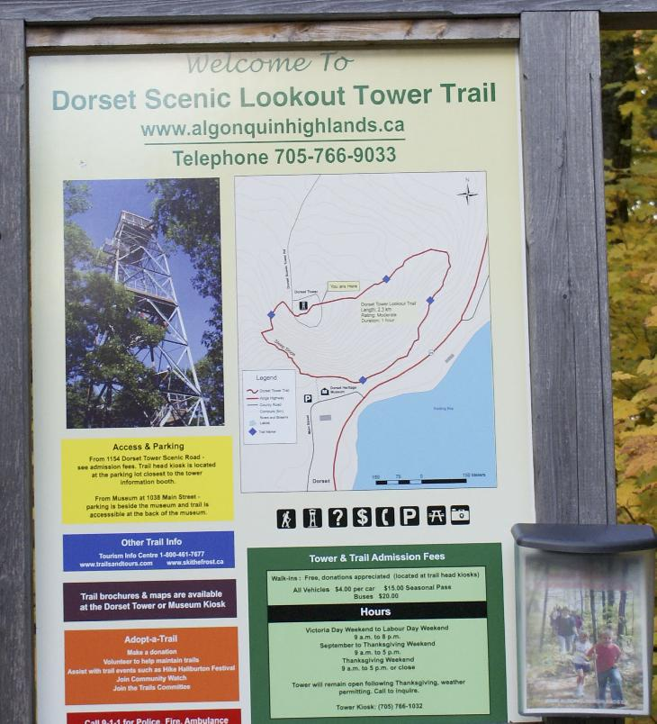 Shows a map of the Dorset Lookout Tower site.