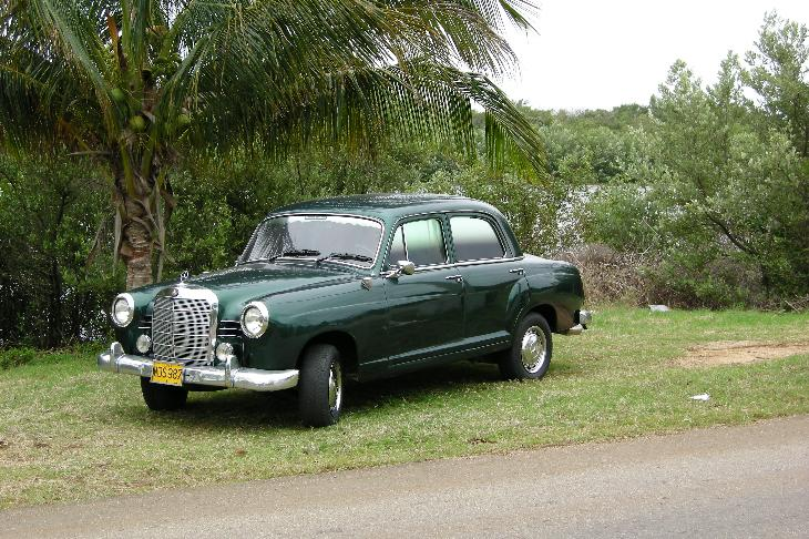 Photo of a privately owned 1961 Mercedes Benz sedan in Varadero Cuba.