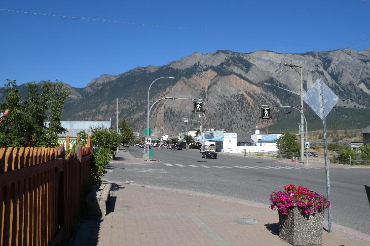 Looking Northeast down Main Street Lillooet British Columnbia Canada.