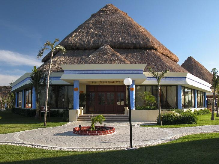 The Mexican cuisine restaurant at the Bahia Principe Coba in Mexico.  The resort is located in the Mayan Riviera.