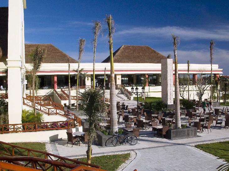A view of the main buffet restaurant at the Bahia Principe Coba in Mexico.  The restaurant is called Kukulcan.