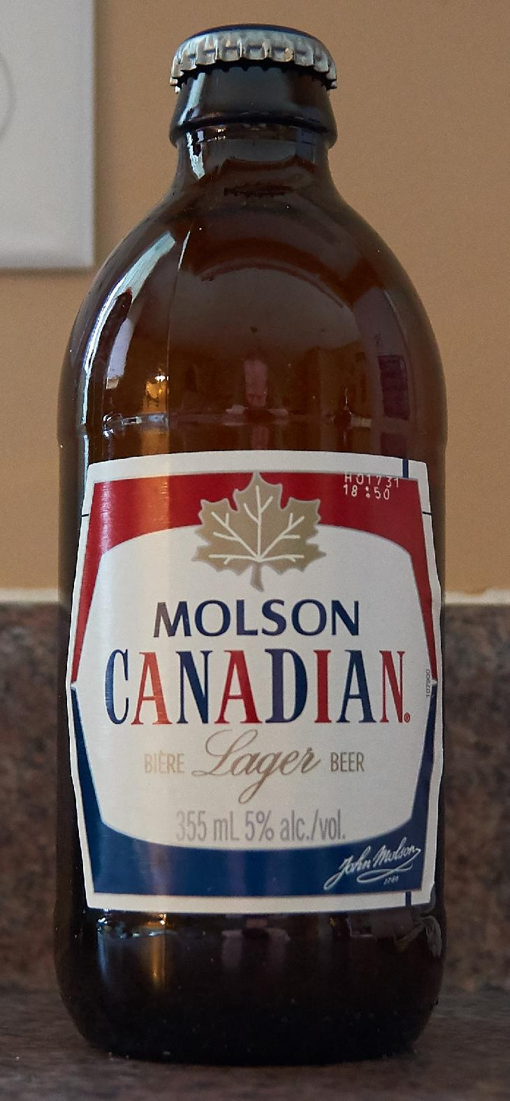 This is a special edition Molson Canadian stubby was released to celebrate Canada's 150th birthday.