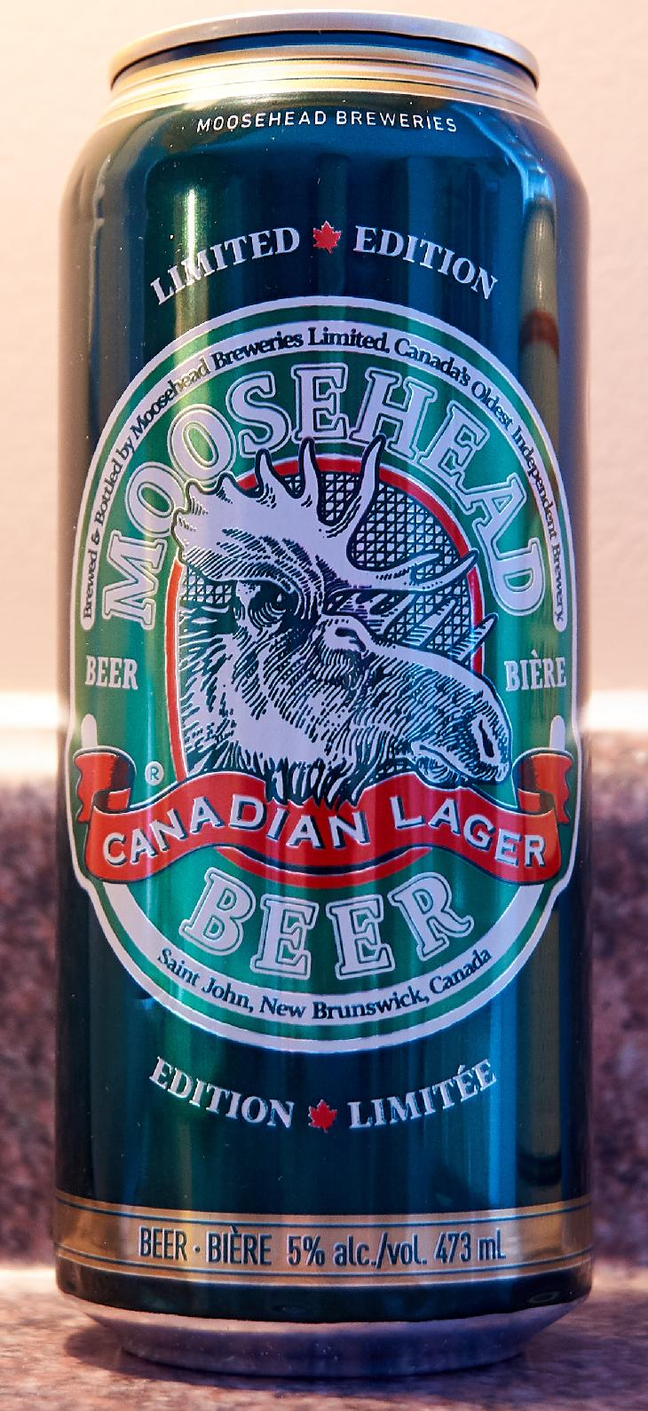 This is front of the 473ml Moosehead Limited Edition 150 Years beer can.  Released in 2017 to commemorate their 150th anniversary brewing.