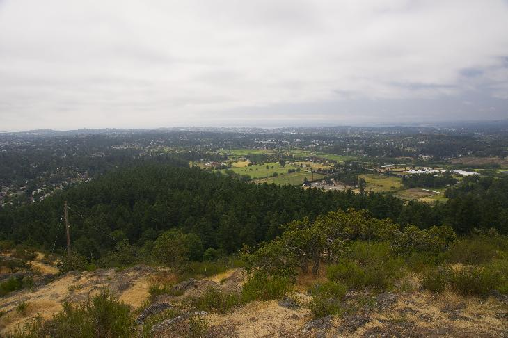 View of the City of Victoria from the summit of Mount Douglas in British Columbia.