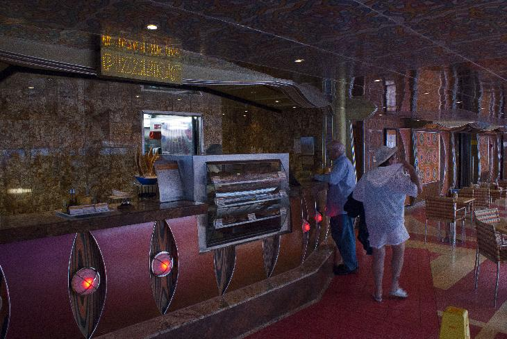 The Pizzeria restaurant on the Carnival Freedom cruise ship.
