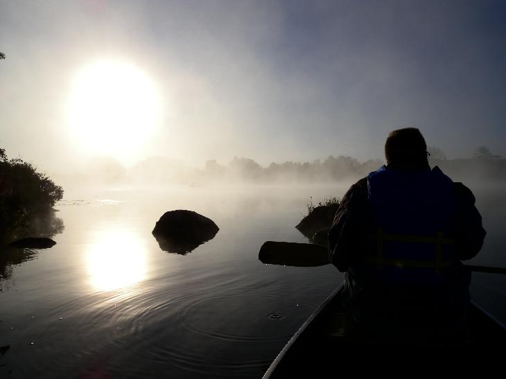 Sunrise on Little Lake was taken will staying at the Inn at Christie's Mill in Port Severn.
