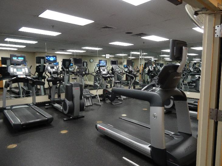 Fitness Center on 9th Floor at Chicago Marriott Magnificent Mile.