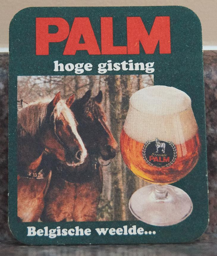 A beer coaster from Palm Beer, promoting their Speciale beer.  Photo was taken in 1996 near Arnhem Holland.  Belgian Craft Brewers since 1706.