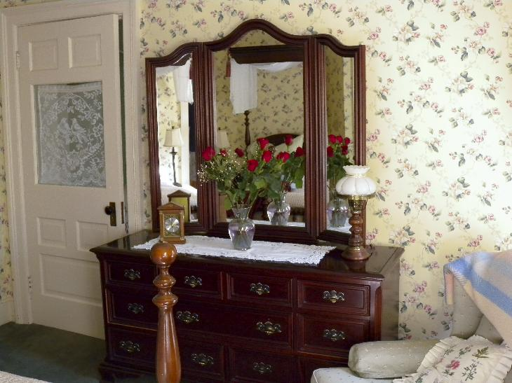 The dresser inside the William and Mary Suite at the Annette Twining House in Niagara on the Lake.