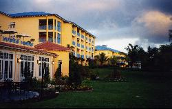 Sandals Grande St. Lucian evening view of accomodations