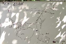 Site map taken from a sign post within the Mayan Ruins of Coba: Quintana Roo, Mexico