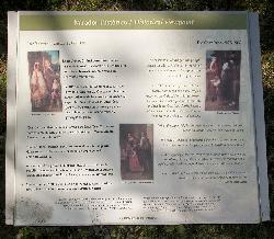 An information sign within the Tulum Ruins in the Mayan Riviera of Mexico.  Describes the 1847 uprising by the indigenous people, it was called the Cate War.