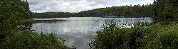 Panorama of Rosepond Lake in Algonquin Park