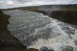 Gullfoss Waterfalls Iceland - upstream view