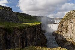 Gullfoss view from downstream