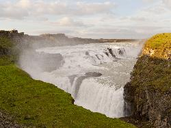 Gullfoss Waterfalls Iceland - upper and lower falls