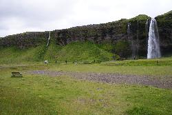 Photo of the Seljalandsfoss waterfall in Iceland.  Taken during June 2010.