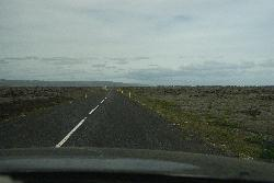 Eldhraun lava field in Iceland - highway photo