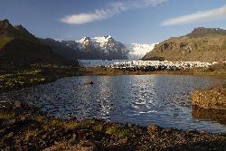 Pond in front of Svinafellsjökull Glacier Icleand.