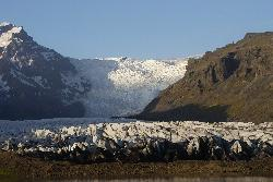 Photo of Svinafellsjökull Glacier tongue in Icleand.